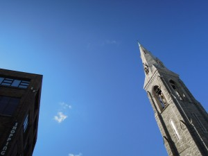 MiD Dun Laoghaire church tower & shopping centre
