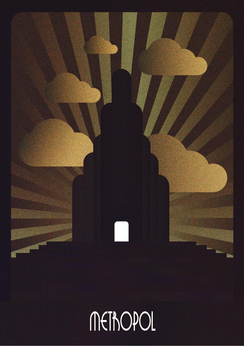 Illustration graphic design Art Deco Dublin