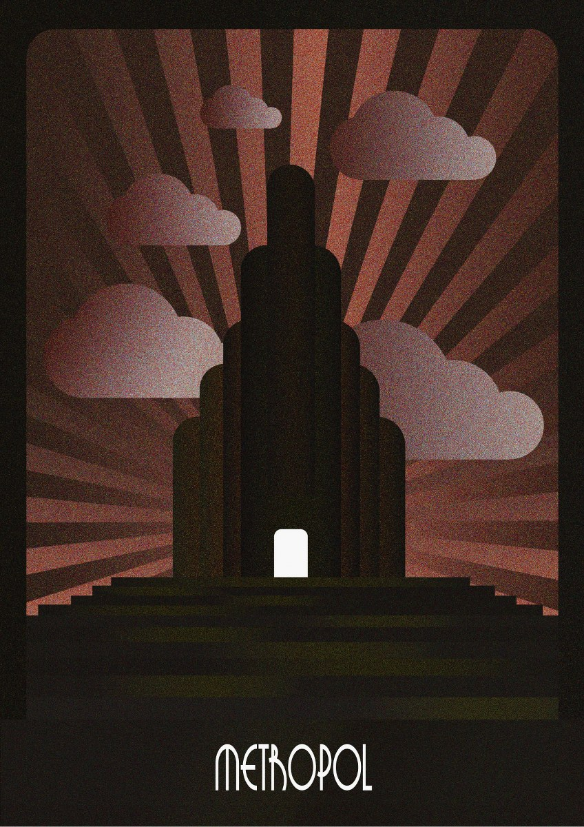 Illustration graphic design Art Deco Dublin