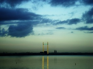 Poolbeg MiD photo at night