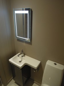 Contemporary guest toilet