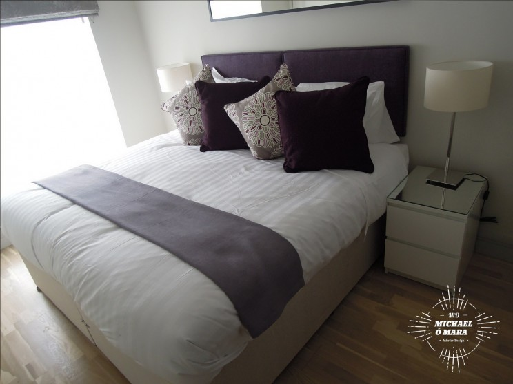 Plum and lavender bedroom