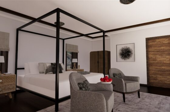 FOUR POSTER BED CONTEMPORARY LUXURY