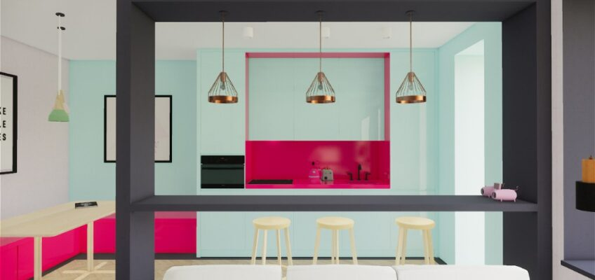 CONTEMPORARY COLOURFUL LIVING ROOM