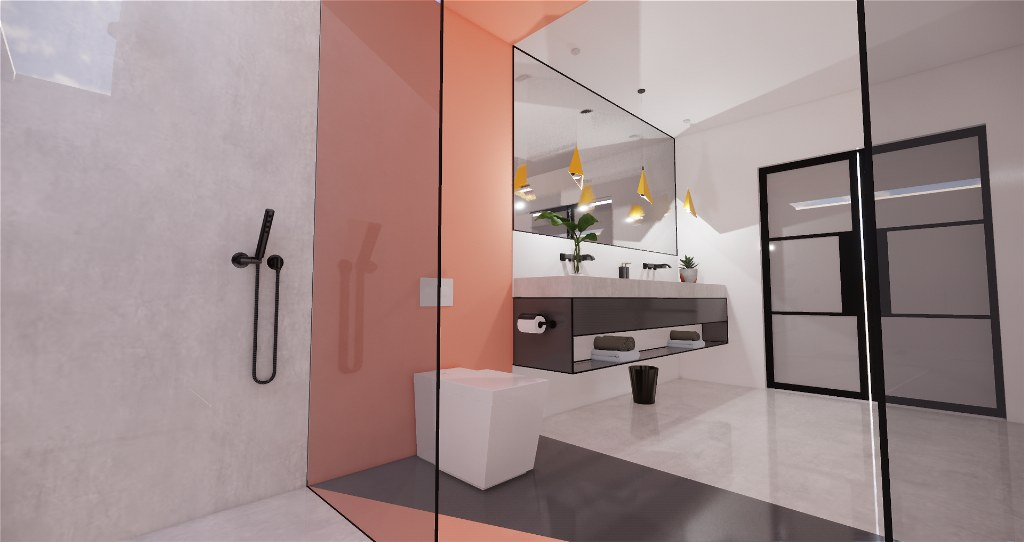 Minimalist contemporary bathrooms