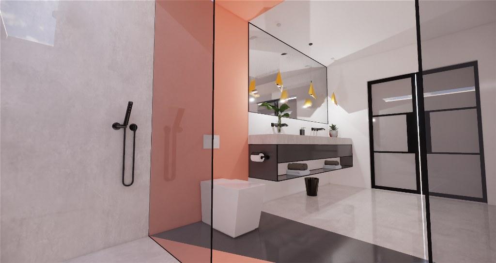 Minimalist contemporary bathrooms