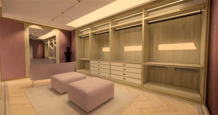 Luxury Walk in wardrobe designs