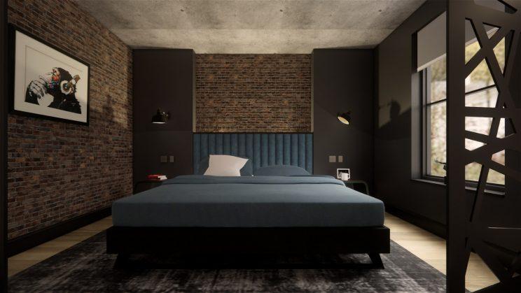 Industrial loft design interiors