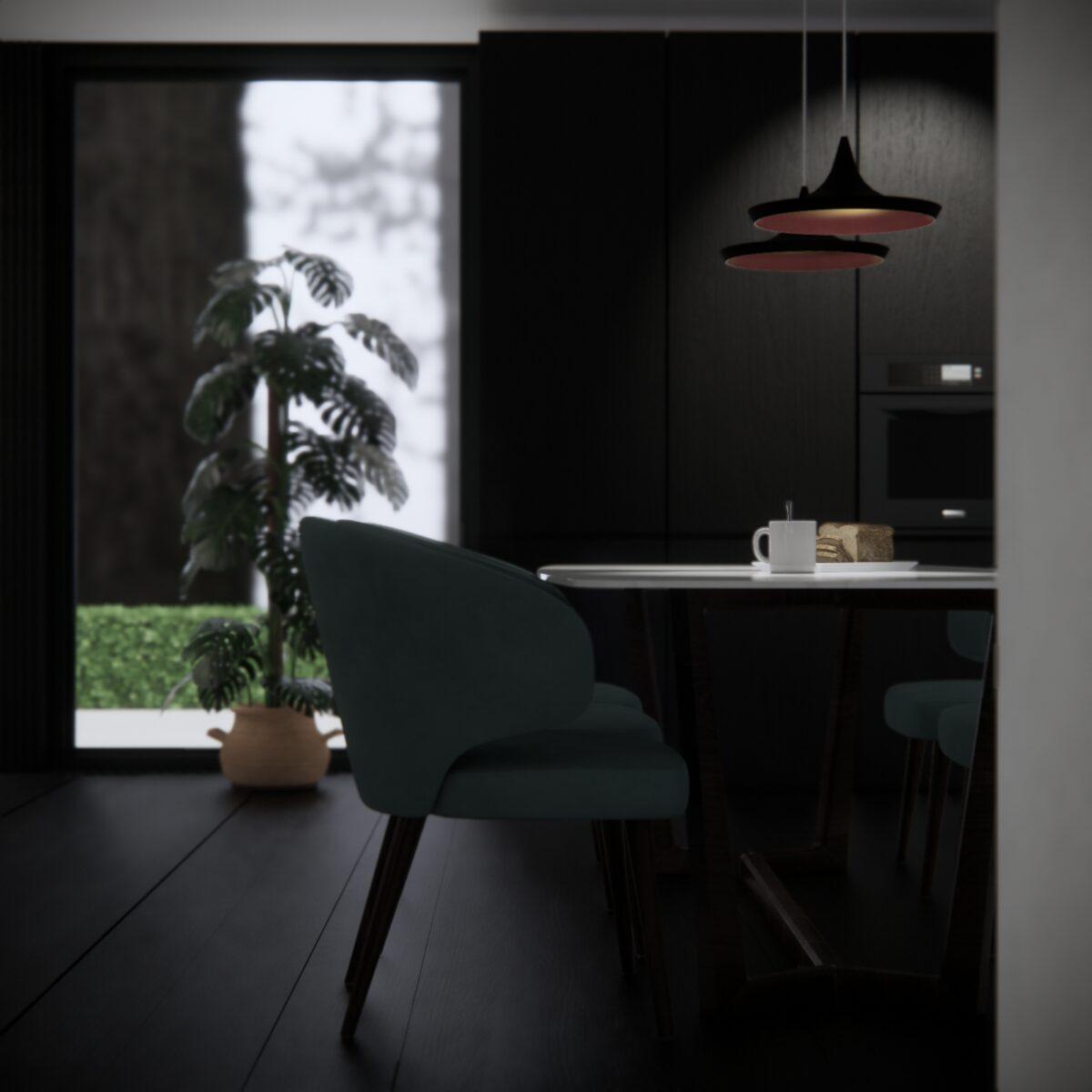 black and white interiors