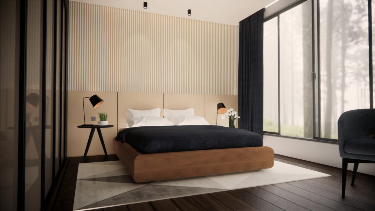 Stylish modern contemporary bedroom