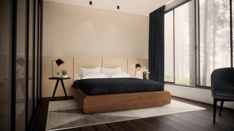 Stylish modern contemporary bedroom