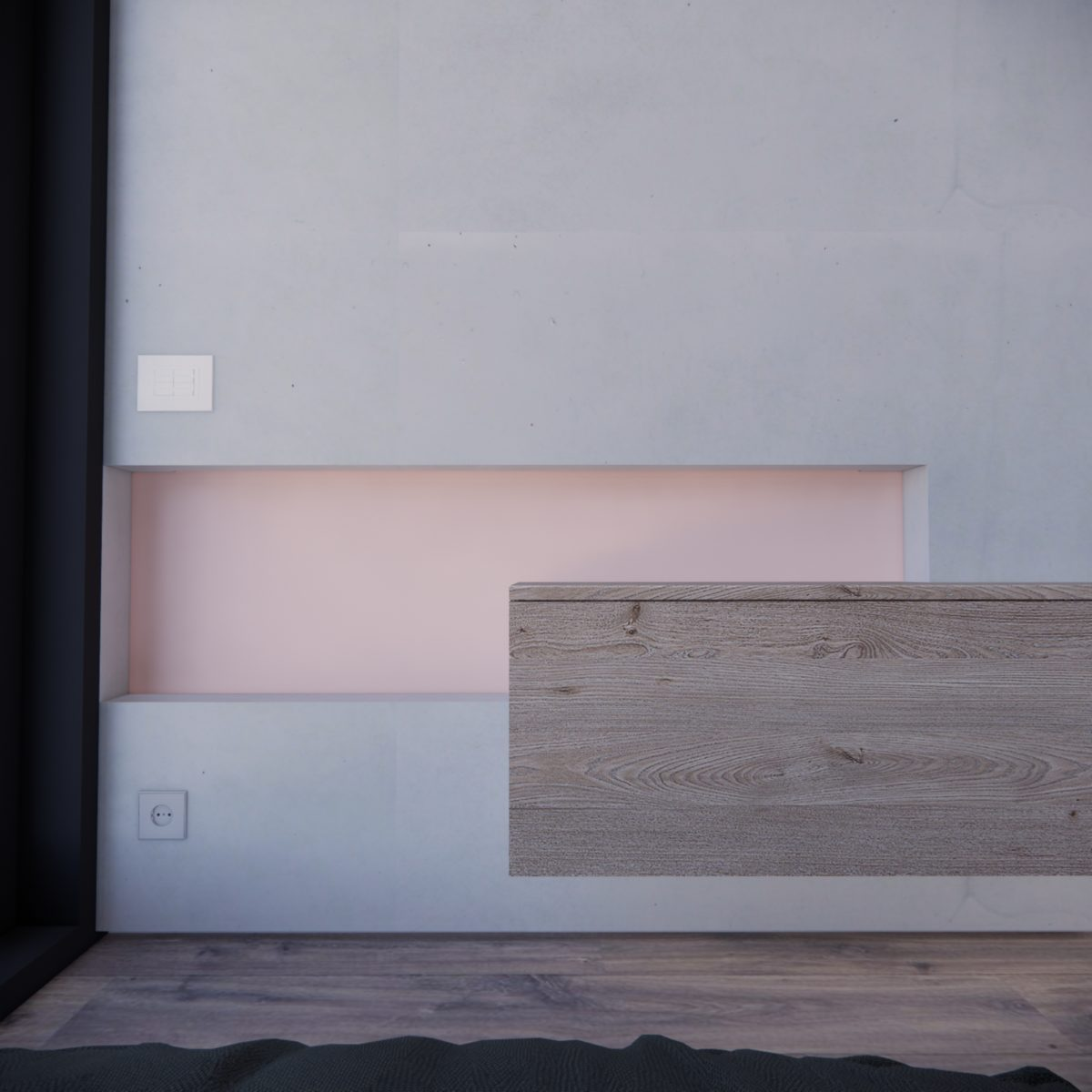 Contemporary interiors with wood